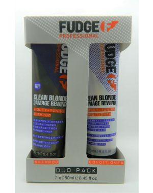Fudge - Clean Blonde Damage Rewind Shampoo And Conditioner 2 x 250ml Duo Set
