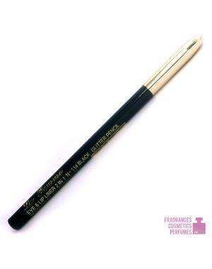 La femme - 2in1 Glitter Eye & Lip Liner - Black 114