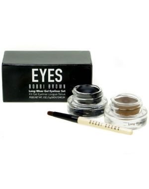 Bobbi Brown - Long-Wear Gel Eyeliner Set Black + Sepia + Applicator