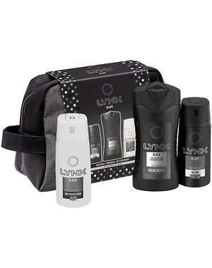 Lynx - Black Wash Bag 4 Pieces Gift Set