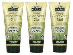 Aloe Pura - Aloe Vera Skin Gel 200ml - Pack Of 3