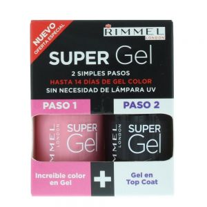 Rimmel - Super Gel Color & Top Coat 2 x 12ml - 022 Angel Wing