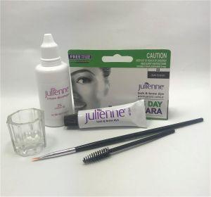 Julienne - Eyelash Eyebrow Tint Dye Dark Brown - 4 Pieces Kit