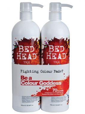 TIGI - Bed Head - Colour Combat - Colour Goddess Shampoo & Conditioner Tween x 750ml (D*)