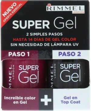 Rimmel - Super Gel Color & Top Coat 2 x 12ml - 025 Urban Purple