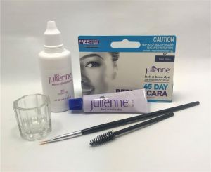 Julienne - Eyelash Eyebrow Tint Dye Blue Black - 4 Pieces Kit