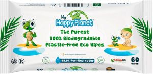 My Happy Planet - Biodegradable Plastic-Free 60 Baby Wipes
