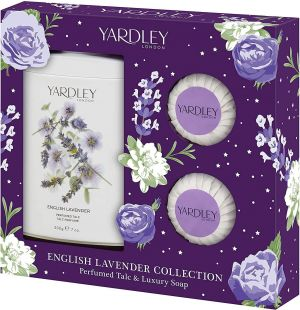 Yardley - English Lavender Gift Set Perfumed Talc 200g + Fragranced Soap 2 x 50g