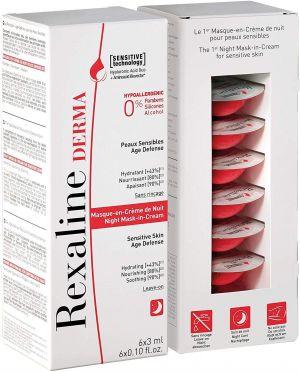 Rexaline - Derma Night Mask-In-Cream 6 x 3ml