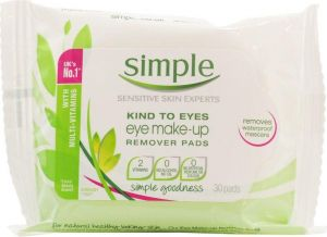 Simple - Kind To Eyes - Eye Makeup Remover Pads