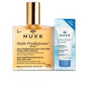 Nuxe - Huile Prodigieuse Oil Riche Very Dry Skin 100ml + Creme Fraiche Riche 15ml