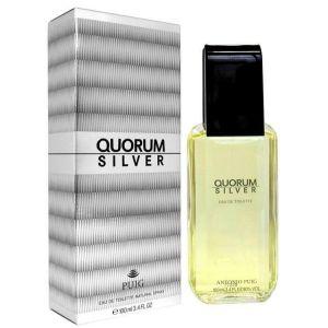 Antonio Puig - Quorum Silver EDT 100ml Spray For Men