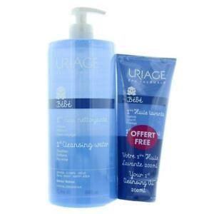 Uriage - Baby Set - No Rinse Cleansing Water 1000ml + Clensing Oil 200ml